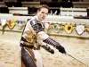 Sean Delaney gets into character for a performance at Medieval Times.