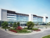 Rendering of Vaughan Hospital by Parkin Architects Limited, architectural consultants for the hospitals development project.