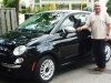 A longtime Fiat driver, Joe Marchese proudly stands next to his new Fiat 500 Lounge, which he notes not only looks great, but has excellent fuel economy.
