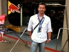Fernando Zerillo, publisher of Dolce Vita Magazine at the Red Bull garage.