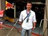 Fernando Zerillo, publisher of Dolce Vita Magazine at the Red Bull garage.