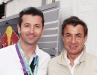 Fernando Zerillo with Jean Alesi, former French F1 driver, winner of Montreal Grand Prix in 95.