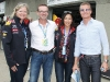 Wendy Durward, director Infiniti Canada; Andreas Sigl, director F1 program Infiniti Global; Tanya Kim, anchor of E-Talk (CTV);  David Coulthard, former F1 driver.