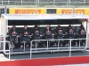 Red Bull engineers monitor their team from the pit lane.