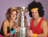 Adam and Denise Faracassa pose with the Stanley Cup