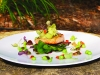 Pan-Roasted Wild Salmon with  Vegetables and Citrus Vinaigrette
