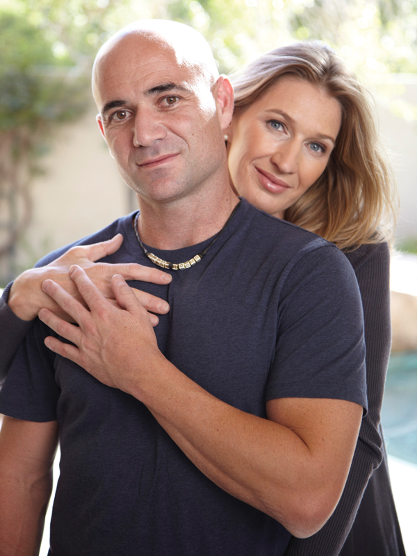 Andre Agassi And Wife Steffi Graff