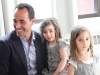 David Rocco with twin girls Emma and Giorgia. Photography By Neeva Kedem