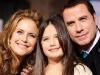 Actors Kelly Preston, Ella Bleu Travolta and John Travolta