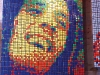 Using Rubik's Cubes as an artistic medium, Cube Works Studio employs unique colour combinations to reconfigure the faces of celebrities,  like Elvis Presley, Marilyn Monroe and  Bob Marley, in vivid ways.