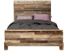 Brimming with rustic charm yet detailed with modern accents, the Verge Bed is built from discarded wood, giving each bed a different colour and pattern, and you a unique piece of furniture.