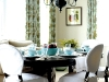 Sabrina Albanese uses her self-designed chairs and light blue décor to create a cosy dining area. Photo By David Gillespie