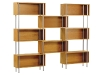 Choose a shelving unit that also stands as an art piece. This Chicago 8 unit is available in a variety of hardwood finishes and beautifully complements a modern home. www.urbanmode.com