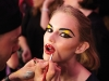 The glossy, geometric makeup palates used on Betsey Johnson's models contrasted beautifully with the frilly, fun designs they wore.