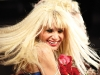 Designer Betsey Johnson's grand entrance concluded her show as she let her quirky, fearless personality sparkle.