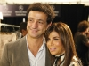 Designer Carlos Miele poses with singer-songwriter, dancer and TV personality Paula Abdul, who attended his fashion show.