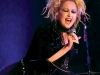 "Acclaimed ""Girls Just Want to Have Fun"" and ""She Bop"" singer Cyndi Lauper performs before the Betsey Johnson fashion show."