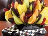 This Nascar® Victory Celebration basket with dipped strawberries is perfect for a young boy's birthday party.