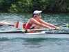 Victoria Nolan at home in her sport, adaptive rowing