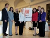 LEFT TO RIGHT: Dr. G. Zachos, Dr. N. Khatri, Vivian Risi, Rona Maynard, Tina Tehranchian, Erin Davis and Janine Purves