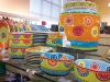 Eclectically coloured dishes