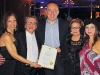 Maurizio Bevilacqua, mayor of Vaughan;  Michael Luisi and his wife, Connie Luisi, and daughters  Gloria and Grace