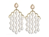 DANGLING DAZZLES -  Don these white coral Angelica earrings for an alluring look.  www.vivre.com