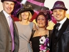 L TO R: Roman Sharanewych, Christine Burych (CAMH), Enza Checchia and Benny Caringi, co-founders of Hats On For Awareness.