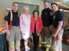 Brampton firefighters, Brampton Mayor Susan Fennell and Lois Rice.