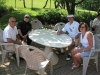Golf participants take a break from the tournament with Dominic Meffe, president of Monte Carlo Inns, and Carmela Meffe.