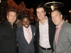 Fernando Zerillo of Dolce Publishing Inc. with Michael (Pinball) Clemons, guests Sergio Gervasi and Lucio Giacomino.
