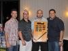 Claudio Chiappetta, organizer; Jimmy Daigle, 2011 tournament winner; Terry Favot, 2011 tournament winner; Aurelio Calabretta, organizer.