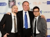 Antonio Ienco, Mayor Bevilacqua and Mark Pagliaroli show excitement for the night's festivities.
