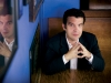 Rick Mercer, host of Rick Mercer Report, sits in a booth at Allens in Toronto.  The political satirist is celebrating his 20th year on television this fall. 