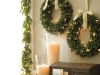 Lit Boxwood Wreath