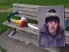 This Moss Park bench marks the spot where club member Paul Croutch was killed in 2005. 