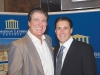 American football legend Vince Papale with local mortgage broker Vince Tarantino.
