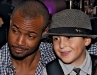 Joey shares a smile with Isaiah Mustafa  (The Old Spice Guy) at the Rally for Kids with Cancer event in Toronto.