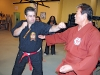Shiroma demonstrates his ancient martial art with Northern Karate instructor Cos Vona.