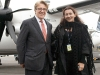 Robert Deluce,  CEO and president of Porter Airlines, and Michelle Zerillo-Sosa, Editor-In-Chief/Publisher of City Life Magazine. Photo By Christoph Strube