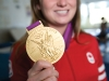 All that glitters is gold for local Olympic champion Rosie MacLennan. (Photo by Jesse Milns)
