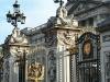 The gilded façade of Buckingham Palace.
