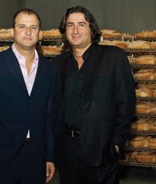 Villa Di Manno Bakerys Rob Mendicino, vice president, and Joe Di Manno, president. 