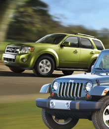 Ford Escape Hybrid, Jeep Wrangler