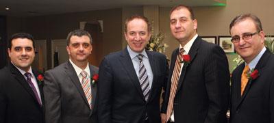 Donny Amaral, Mark Romani, Mayor Maurizio Bevilacqua, Robert Pittiglio, Mario Sgro