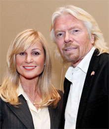 Vivian Risi and Sir Richard Branson